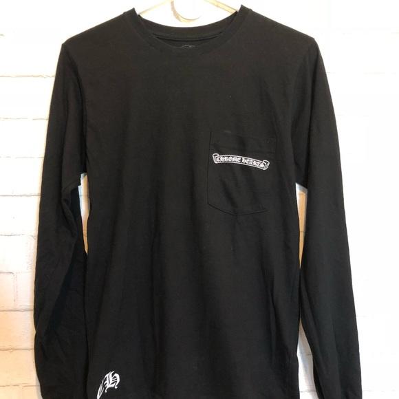 ce8df9314d2f Chrome Hearts Other - Black Men s Small Chrome Heart long sleeve shirt